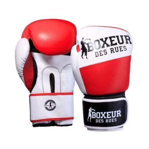 Rękawice bokserskie bxt-591 czerwono-biały (12 oz) marki Boxeur