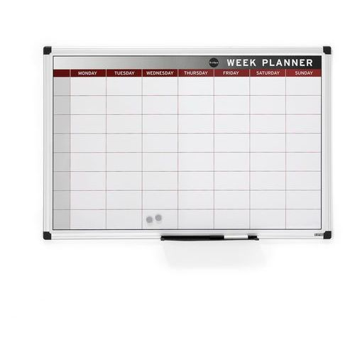 Tablica planu tygodniowego marki Aj produkty