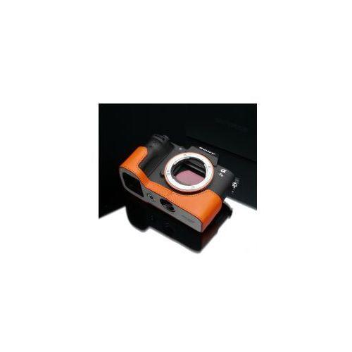 Halfcase z naturalnej skóry w kolorze pomarańczowym dedykowany do Sony A7 i A7R, kolor pomarańczowy