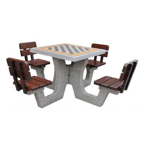 Eco-market.pl Betonowy stół do gry w szachy z oparciem