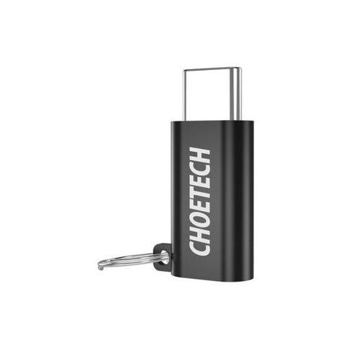Adapter przejściówka Choetech micro usb - usb-c typ c czarny