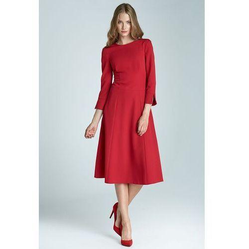 Sukienka midi - czerwony - s64, Nife