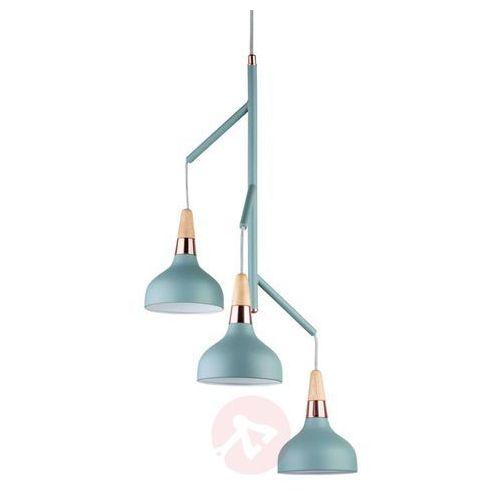 Paulmann Juna - 3-punktowa lampa wisząca turkusowym kolorze