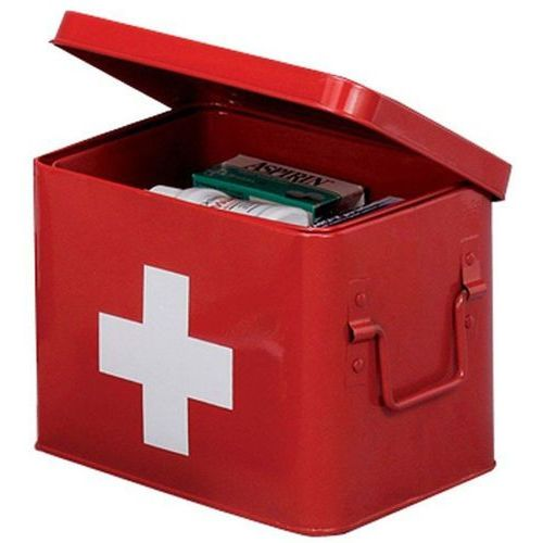 Metalowa apteczka, pudełko medyczne, 22x16x16 cm, marki Zeller