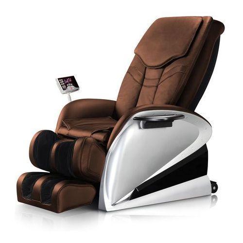 OKAZJA - Insportline Fotel do masażu sallieri czarny - kolor ciemny brązowy (8595153644789)