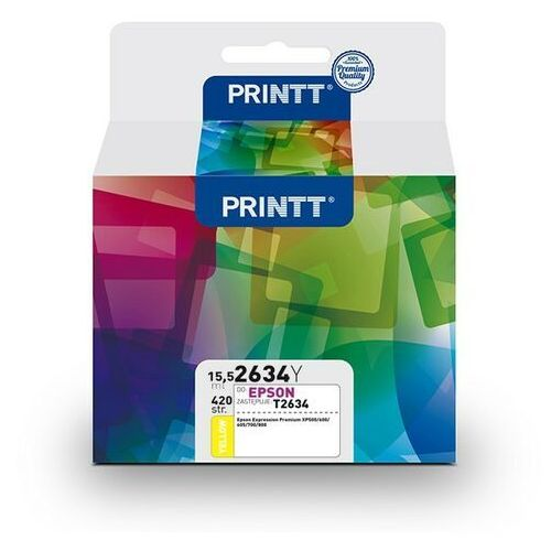 Ntt system Tusz printt do epson nae2634y (t2634) yellow 15,5 ml