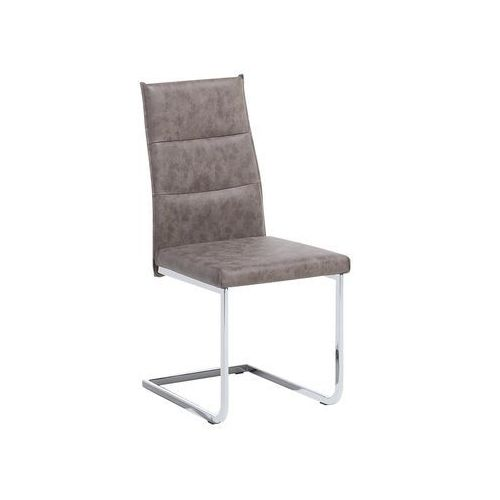Krzesło do jadalni ciemnobrązowe ROCKFORD (4260586353433)