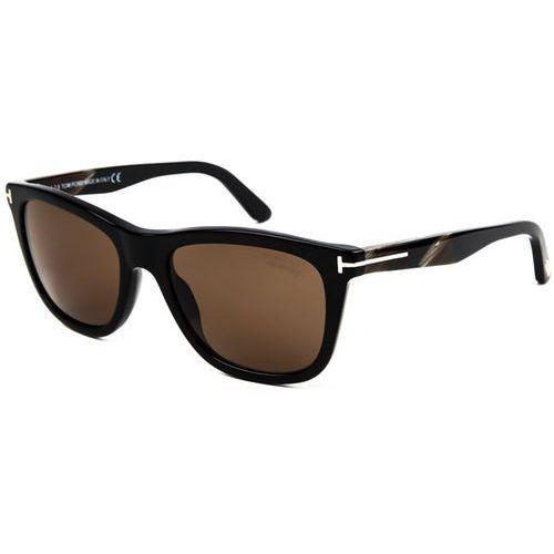 Okulary Słoneczne Tom Ford FT0500 Polarized 01H, kolor żółty