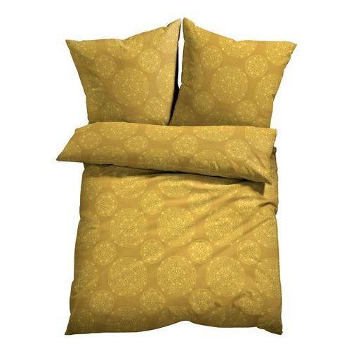Pościel z nadrukiem z motywem ornamentów bonprix żółty, kolor żółty