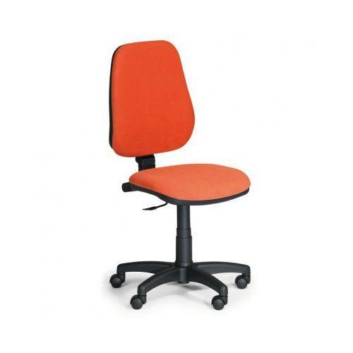 Krzesło biurowe COMFORT PK, bez podłokietników - pomaranczowe