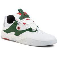 Sneakersy DC - Kalis Se ADYS100507 White/Green(WGN), kolor zielony