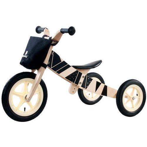Sun baby Rowerek biegowy drewniany 2w1 twist samoa black e02.001.1.4