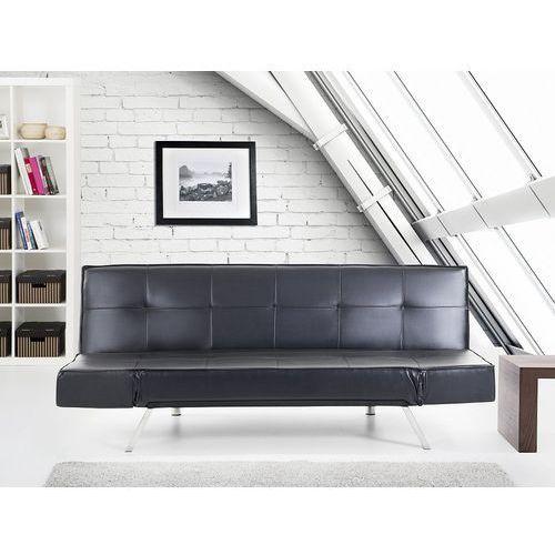 Rozkładana sofa czarna ruchome podłokietniki bristol marki Beliani