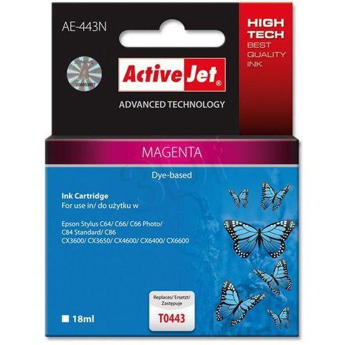 Tusz ActiveJet AE-443N (AE-443) Magenta do drukarki Epson - zamiennik Epson T0443 (5904356280855)