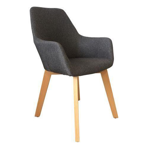 Exitodesign Krzesło tapicerowane z podłokietnikami stone dark grey