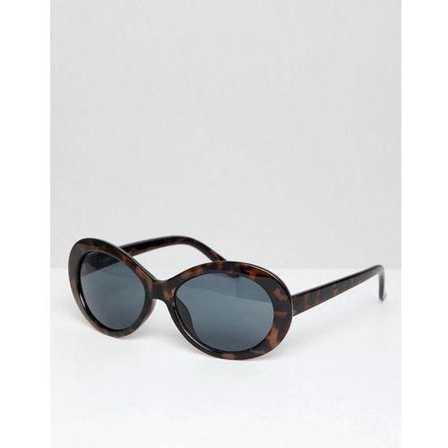 design oval sunglasses in tort - brown marki Asos