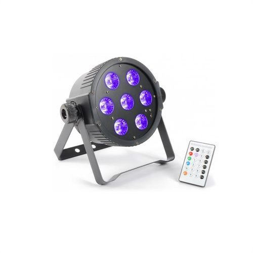 beamZ FlatPAR 7x 18W 6-w-1 Hexcolor RGBAWUV-LED DMX IR z pilotem, kup u jednego z partnerów