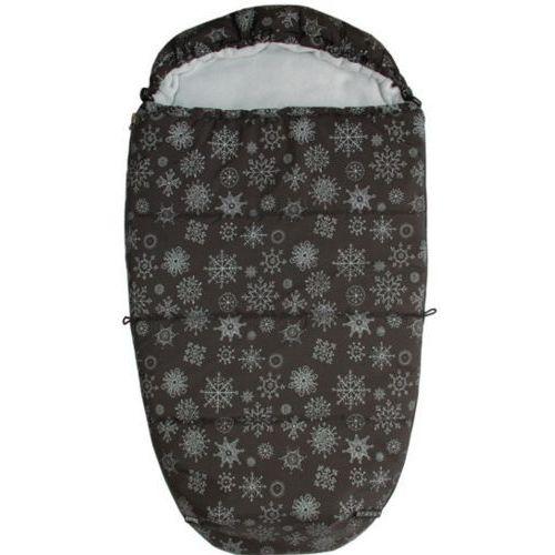 Emitex śpiworek do wózka mumie płatek śniegu, czarny/szary (8595624447208)