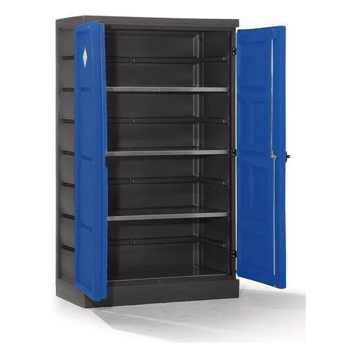 Szafa ekologiczna z pe, 2-drzwiowa, półki ocynkowane. do przepisowego składowani marki Eurokraft