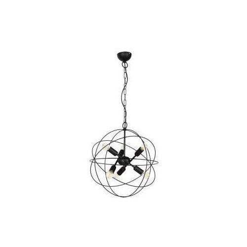 Luminex Copernicus 1103 lampa wisząca zwis 6x60W E14 czarny, 1103