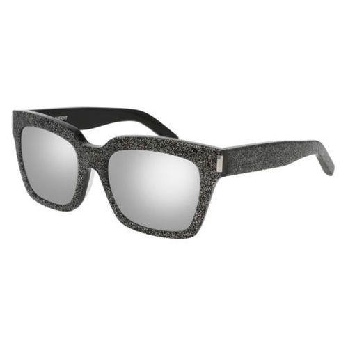 Okulary Słoneczne Saint Laurent BOLD 1/F Asian Fit 009, kolor żółty