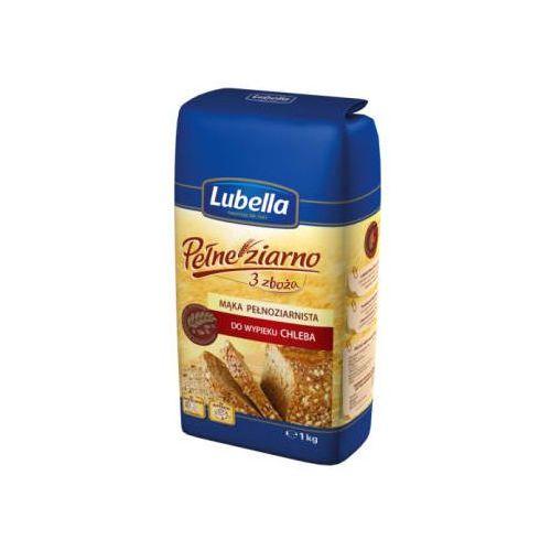 LUBELLA 1kg Pełne ziarno 3 zboża Mąka pełnoziarnista do wypieku chleba (5900049001288)