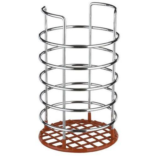 Uniwersalny metalowy koszyk na sztućce, akcesoria do kuchni, metalowa budowa, plastikowy ociekacz, srebrny