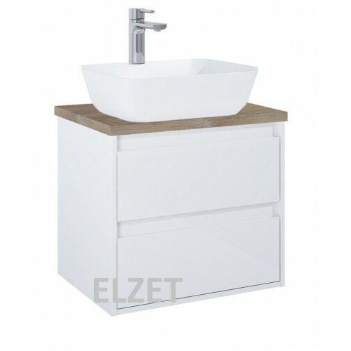 Elita szafka desi plus 2s white pod umywalkę nablatową + blat 60 dąb classic 166424.166897