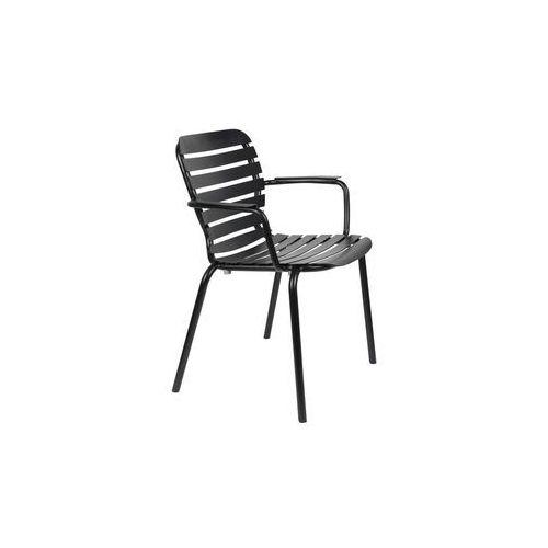 Zuiver krzesło ogrodowe z podłokietnikami vondel czarny 1700004