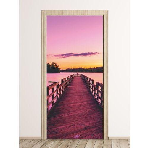 Fototapeta na drzwi pomost w zachodzącym słońcu fp 3178 marki Wally - piękno dekoracji