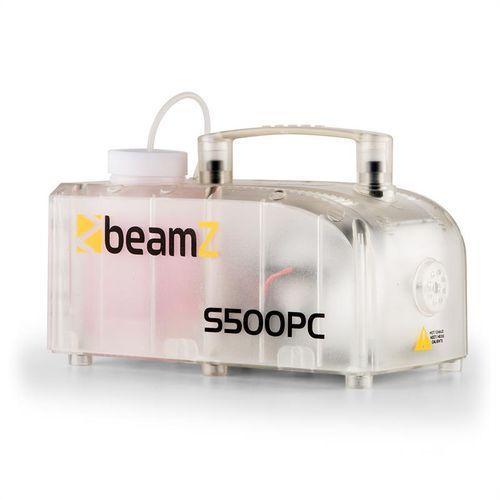beamZ S500PC wytwornica mgły RGB LED 500 W z fluidem do wytwarzania mgły przezroczysta (wytwornica dymu)