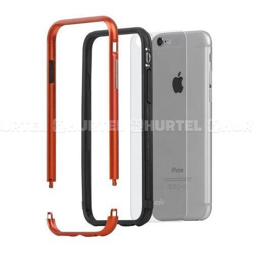 Moshi iGlaze Luxe - Aluminiowy bumper iPhone 6s / iPhone 6 (Alloy Orange), kolor pomarańczowy
