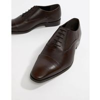 toe cap derby shoes in brown leather - brown, Dune