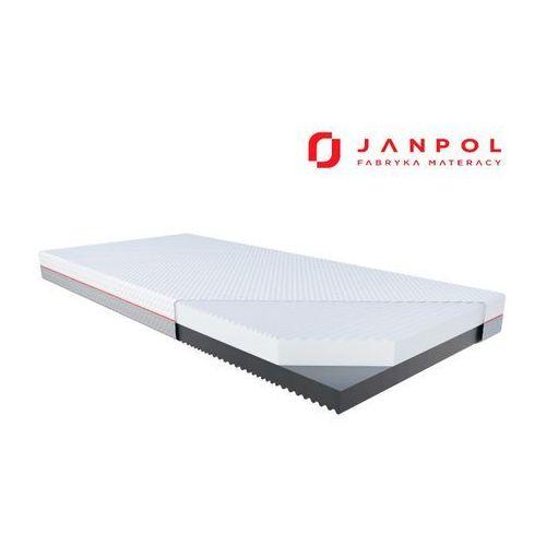 Janpol gemini – materac piankowy, rozmiar - 80x200, pokrowiec - grey wyprzedaż, wysyłka gratis (5906267402975)