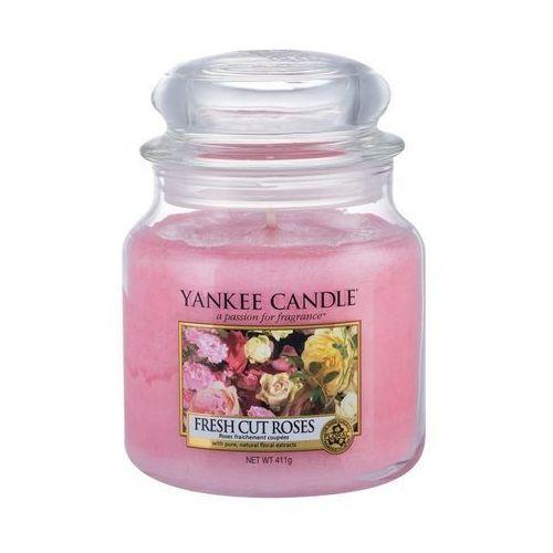 Yankee candle fresh cut roses aromatyczna świeca zapachowa słoik średni (5038580000214)