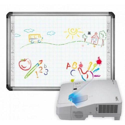 Tablica newline truboard r5-800l z projektorem ultrakrótkoogniskowym nec um361x i uchwytem nec marki Interwrite