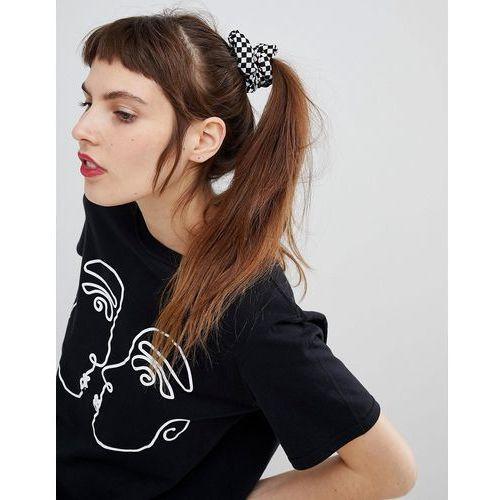 Asos design scrunchie hair tie in checkerboard print - multi