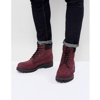 Timberland Classic 6 Inch Premuim Boots in Red - Red, kolor czerwony