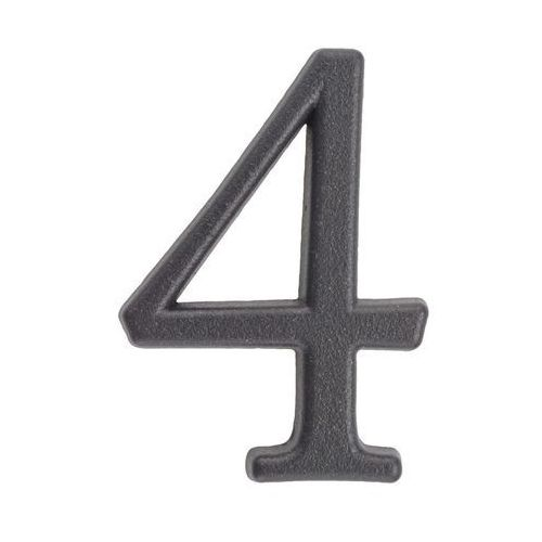 Cyfra 4 wys. 5 cm metalowa grafitowa