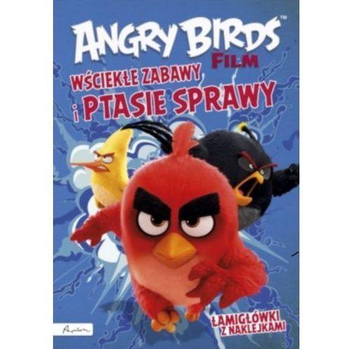 Papilon Angry birds film wściekłe zabawy i ptasie sprawy! łamigłówki z naklejkami