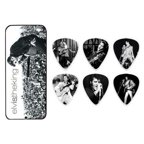 Dunlop Elvis Presley King Pick Tin, zestaw kostek gitarowych, medium