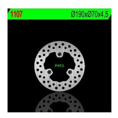 1107 tarcza hamulcowa aprilia 125/200/250/300/500 atlantic (190x70x4,5) (3x8,5mm) marki Ng