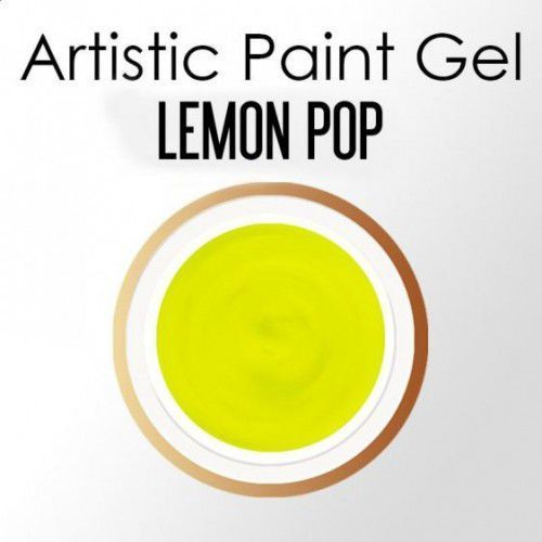 Nails Company ARTISTIC PAINT GEL PASTA 5g - LEMON POP (neonowy żółty)