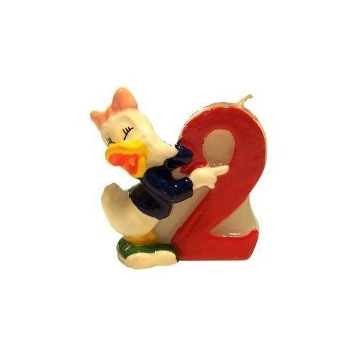 Procos disney Świeczka cyferka dwójka 2 z serii myszka mickey - 1 szt.