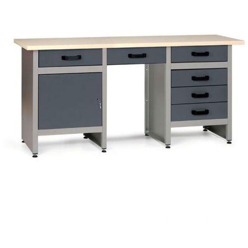 Stół roboczy hobby iii, 6x szufladka, 1x szafka marki B2b partner