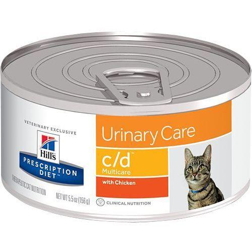 Hill's pd prescription diet feline c/d multicare kurczak 12 x 156g - puszka marki Hills prescription diet