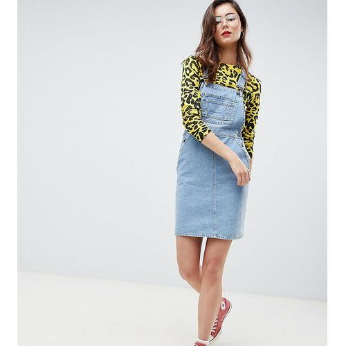 Asos design tall denim dungaree dress in vintage blue - blue marki Asos tall