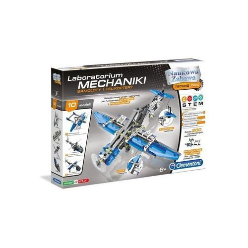 Modele samolotów i helikopterów laboratorium mechaniki – samoloty i helikoptery 60950 marki Clementoni