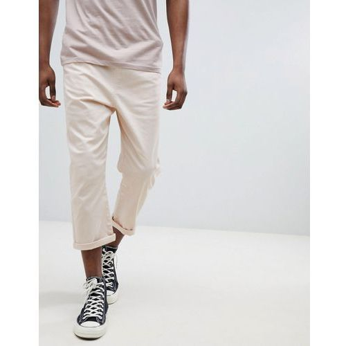 Another Influence Pull On cropped Drawstring Chinos - Pink, chinosy