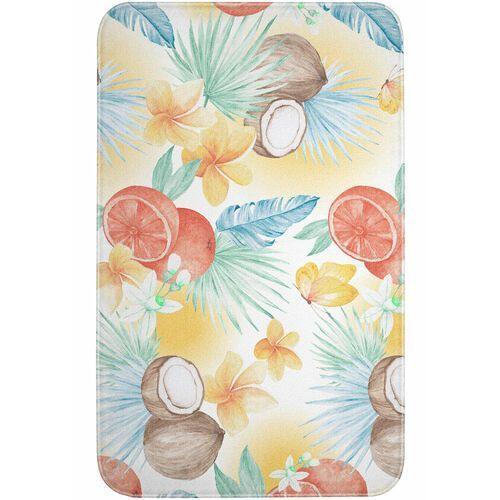 Dywaniki łazienkowe z pianką memory pomarańczowy marki Bonprix
